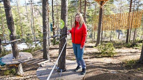 SNART KLART: Gunhild Kopland Terum ser fram til sesongåpning av klatreparken i slutten av april.