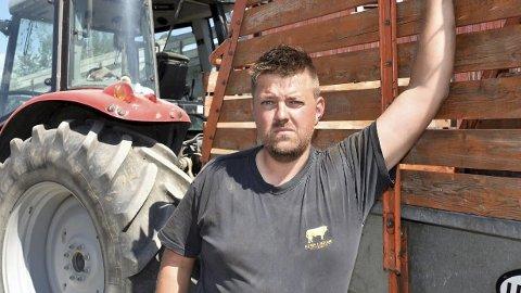 KLAR FOR AKSJON: Truls Ødegård og lokale bønder er klare for aksjon etter brudd i jordbruksforhandlingene.