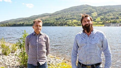 STORSATSING: Aage Bjørn Andersen (t.v.) og Terje Paulsen satser stort gjennom selskapet NAPOP AS. Hurtigbåt fra Vikersund til Sundvollen og lokal hydrogenproduksjon til å drive båten.