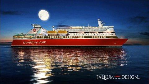 Slik skal ferja se ut etter ombyggingen. Illustrasjon: Fjord Line