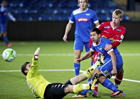 Thorleif Molvær og Drammen FK dominerte i tredjedivisjon i 2014. Nå er de tilbake i toppfotballen, og skal møte LSK2 i sin første kamp i neste års andredivisjon. (FOTO: TORE SANDBERG)
