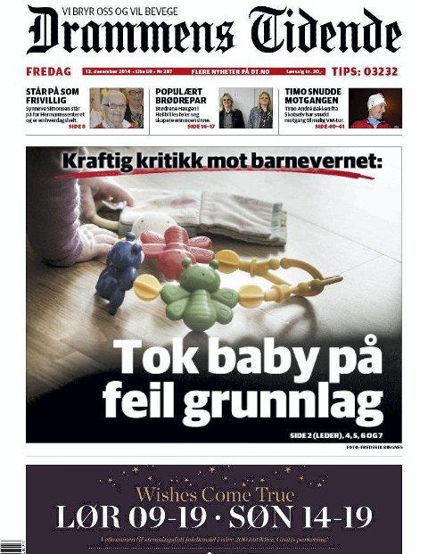 Drammens tidende                                    12.   desember 2014