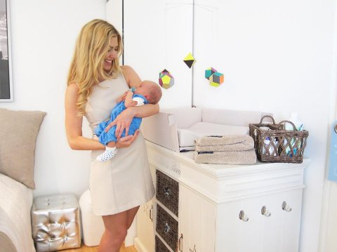 Marianne Gjerstad Hørven har i snart tre år drevet bloggen mariannebeate.com. Nå er hun nominert til Årets mammablogg i 2014. Her er hun avbildet med sønnen Helmer (1 1/2).