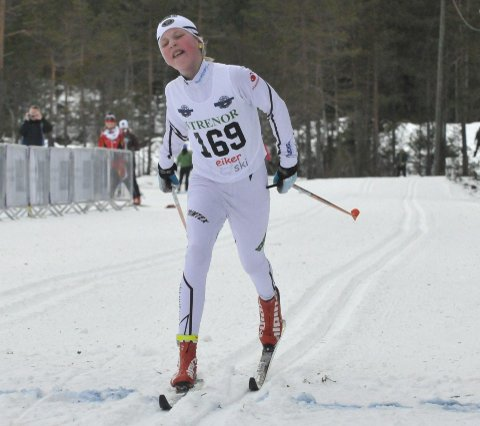 Tre på rad: Maren Karlsen Bekkestad fra Mjøndalen vant alle tre rennene i Eiker skifestival.