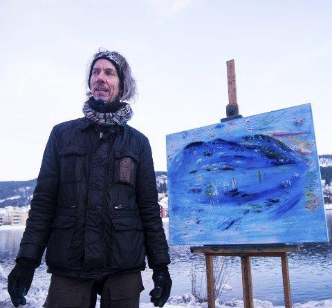 Kolorist: Bilder malt i Drammen kan nå oppleves i Galleri Semmingsen i Oslo. Prisantydning på dette verket: ca. 45.000 kroner.