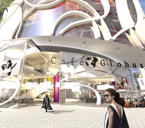 Fasade: Slik kan kafeer og butikker på gateplanet møte publikum i ett eventuelt nytt bygg.