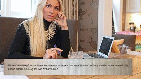 Maria Høili hjemme i Lier Foto: Farid Ighoubah / Nettavisen/ Skjermdump.