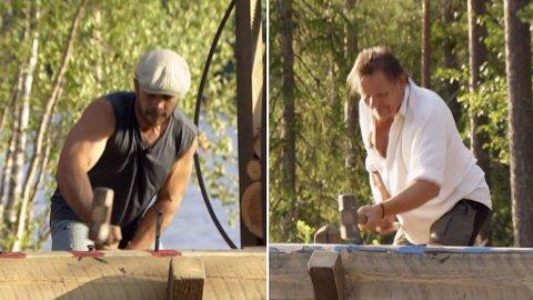 TAPTE TVEKAMPEN: Charlie Stuart (til venstre) er ute av Farmen etter å ha tapt tvekampen mot Jørgen Ringstad (til høyre).