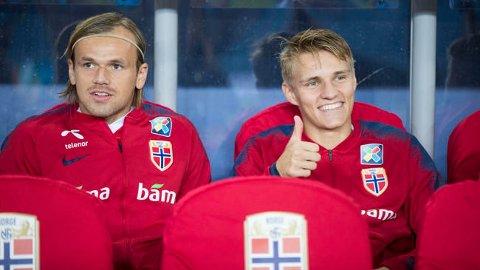 GOD STEMNING: Iver Fossum og Martin Ødegaard trives i lag både på og utenfor banen.
