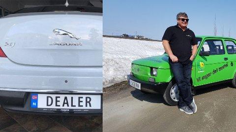 REKLAME: David Sunhill («Dealer») og Knut Nævra («Sugern») fant en kreativ måte å fremme bedriftene sine på.