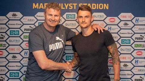 Sportssjef i Strømsgodset, Jostein Flo er svært fornøyd med å ha signert danske Martin Hansen (29).