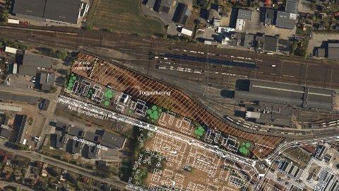 Bane NOR vil bruke halve Sundland til togparkering.
