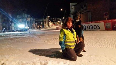 Jenny Fermann er en av de som går nattevakter på skisprinten.