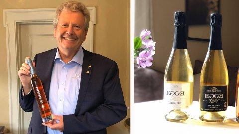 FIRE GULL: Marius Egge på Egge gård stakk av med fire gull for sin cider i konkurransen CiderWorld i Tyskland.