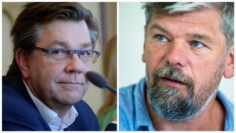 - VELDIG HYGGELIG: Varaordfører Ståle Sørensen (t.h.) setter pris på Facebook-innlegget til Fredrik Haaning.