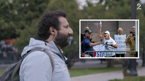 TV 2-journalist Kadafi Zaman fra Tranby ble verbalt angrepet av Sian-profil.