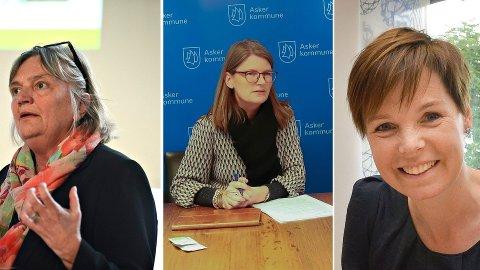Fra venstre: Wenche Grinderud, rådmann i Kongsberg, Lene Conradi, ordfører i Asker og Trude Andresen, kommunedirektør i Øvre Eiker.