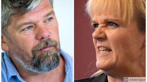 Kristin Surlien (H) reagerte kraftig på det hun mente var bagatellisering av smittefaren fra Ståle Sørensen.
