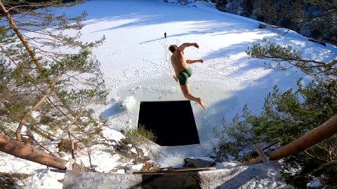 Et helt ellevilt stunt - men dette er det Emil Lybekk og kompisene digger fremfor noe annet.