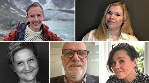 PENSJONSSPARING: Magnus Nygaard (30), Eirin Emilie Ulrichsen (27), Åsa Roth (46), Arild Hageskal (65) og Pia Wall (57) forteller om hvordan de sparer til egen pensjon.