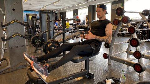 Daniel Berglund er fornøyd med å være tilbake i treningssenteret