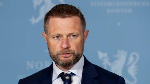 Helse- og omsorgsminister Bent Høie kommer med siste nytt om koronasituasjonen. Foto: Berit Roald (NTB)