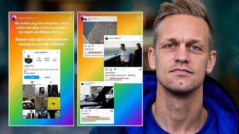 OPPFORDRER TIL SPAM: Mads Hansen ble provosert av den ungarske utenriksministeren sine uttalelser etter UEFA sin Pride-avgjørelse. Nå oppfordrer han folk til å bombardere profilen hans. Foto: Skjermdump, Instagram