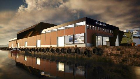 PLANER: Slik ser Drammen Kommune Eiendomsutvikling for seg at det nye TV-studioet på Tangenkaia kan bli seende ut.