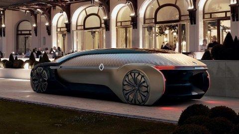Renault viser en selvkjørende konseptbil i Paris, og her mangler det ikke på luksus!