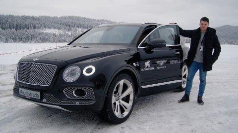 Her er Bentley Bentayga på vintertest i Norge. Til neste år får vi Norges første rene Bentley-butikk.