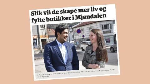 Skjermdump fra eikerbladet.no, 3. mai 2018.