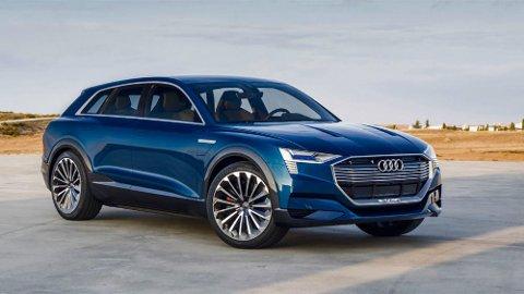 Audi e-tron skal ha god plass, god rekkevidde og firehjulsdrift. Bildet viser konseptbilen.