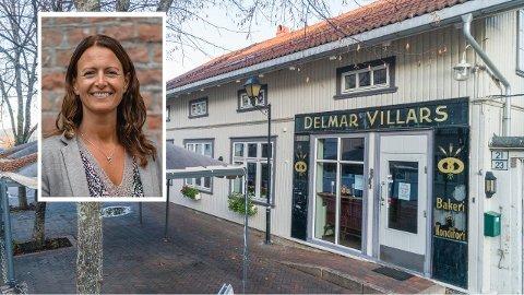 SELGER: i 1912 åpnet Delmar Villars dørene til det populære møtestedet i Vestfossen. Nå selger oldebarnet Hege Villars sentrumsgården til 5,5 millioner kroner: - Det er vemodig, sier Hege.
