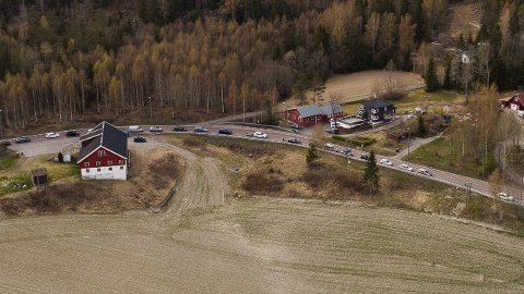 Skogbrann langs fylkesvei 120 ved Vaslestad.