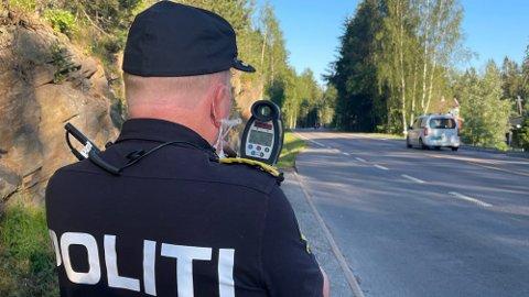 Fylkesvei 155 mellom Oslo grense og Enebakk er en av de prioriterte strekningene for Utrykningspolitiet denne uka.