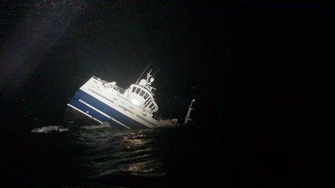 Fiskefartøyet Fay forliste 28. desember. Mannskapet på 11 ble berget, men fartøyet ligger på 245 meters dyp.