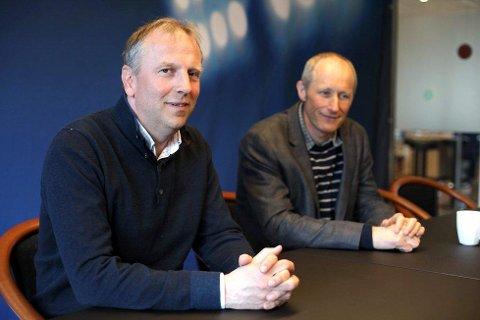 Øyvind Østrem, studikoordinator for subseastudiet, og Trond Strømgren, tidlegare prosjektmedarbeidar.