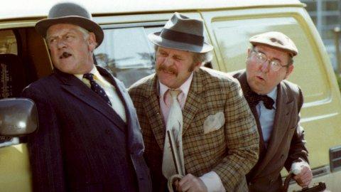 Den legendariske Olsen-banden i aksjon. Dei klussa det til med spretne tonar frå Bent Fabricius-Bjerre.