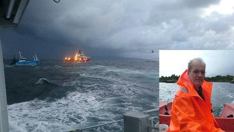 """Styrmann Arild Ulriksen på """"Ocean Alden"""" er lommekjent i desse farvatna vest av Batalden."""