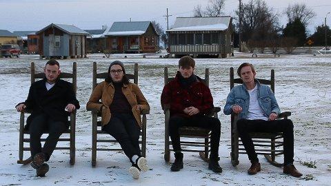 Silo- på USA turné . Frå venster Iver Senneset, Galek Bartek, Oliver Igland og Halvor Nesbakk.