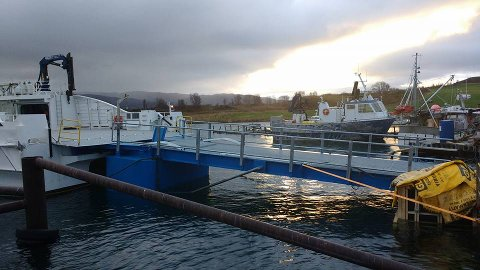 Bilbru frå Coast Innovation levert i oktober på Kongshus i Nord-Norge. Ein slepp å bruke hydraulikk, men regulerer berre vassmengda i pontongen i staden ved hjelp av trykkluft.
