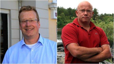 Nye leiarar: Knut Broberg t.v. og Rolf Bjarne Sund