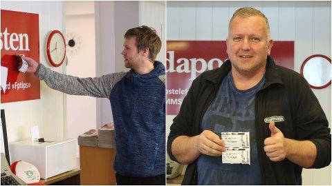 to vinnarane, Ernst Sunde og Erik Jakobsen