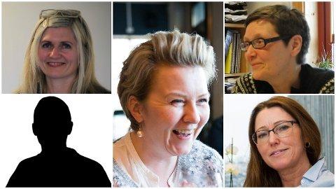 Oppe f.v.: Kari Vårdal, Mann (48), Cecilie Udberg-Helle, Marianne Nødset og Heidi Humlestøl Aasen.
