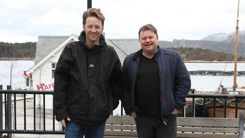 Martin Malkenes og Per Øyvind Helle vil rydde byen til 17.mai. NRK kjem på besøk, og dei får prominente gjestar.