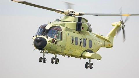 AW101- Augusta Westland- det nye redingshelikopteret under testing.