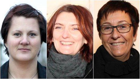 IKKJE MED: Arbeiderpartiet sine tungvektarar Karianne Torvanger, Solveig Willis og tidlegare floraordførar Bente Frøyen Steindal, er ikkje med på Ap sitt framlegg for kandidatar til Kinn kommunestyre.
