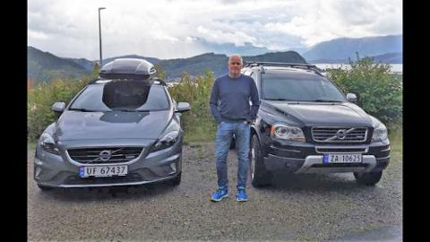 HØGRE: Morten Hagen,  Volvo XC 90 Diesel 2010 modell, og Volvo V40 Diesel 2015 modell