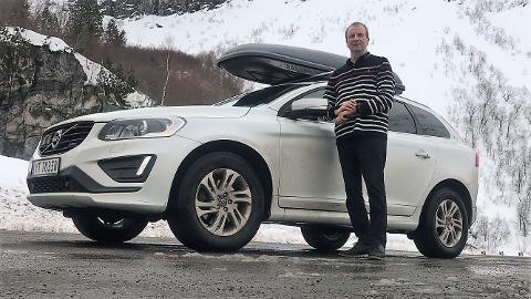 KRF: Gustav Johan Nydal, Volvo XC 60 Diesel 2014 modell. Køyrer også eletrisk Peugot Partner Electric 2018 modell.