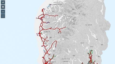 112 nye ruter er tilgjengelege i digital kartløysing frå Kystverket.
